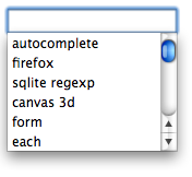 Autocomplete dropdown sorted by frecency